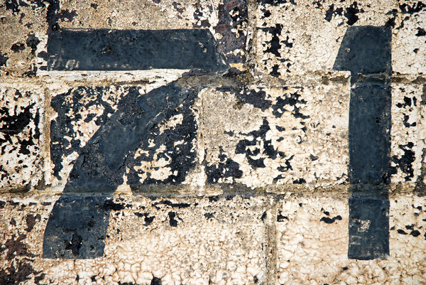 seventy-one: peeling numbers on a victorian viaduct...