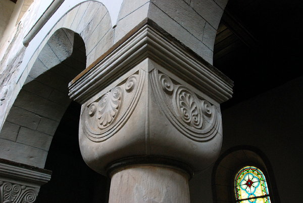 Romanesque capital from Frose
