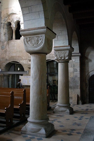 Romanesque columns from Frose