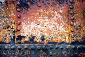 gorgeous: The rusting hull of a Narrow Boat
