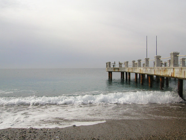 grey beach: day at the beach - in alanya turkey