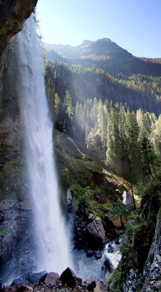 arnoldfalls: the arnoldfalls direction obertauern from radstadt - salzburg, austria