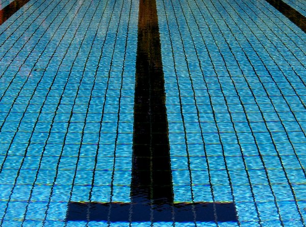 Pool 1: Pictures of water in a pool and the guidelines for swimmers.