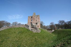 Norham Castle 3: Commanding a vital ford over the River Tweed, Norham was one of the strongest of the border castles, and the most often attacked by the Scots. Besieged at least 13 times – once for nearly a year by Robert Bruce – it was called 'the most dangerous an