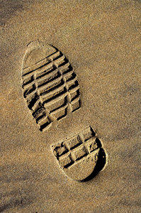 The Boot: Bootprint in the sand