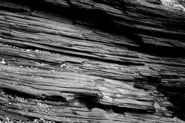 Slate: Black and white shot of Cornish slate.
