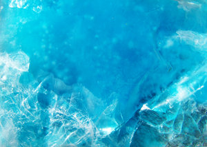 blue ice: blue gel frozen in plastic