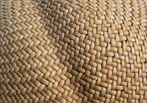 basketweave texture: Hat texture, made out of woven grasses.
