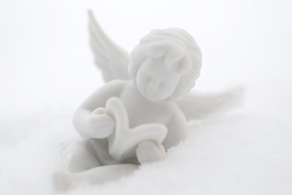 Angel on the snow