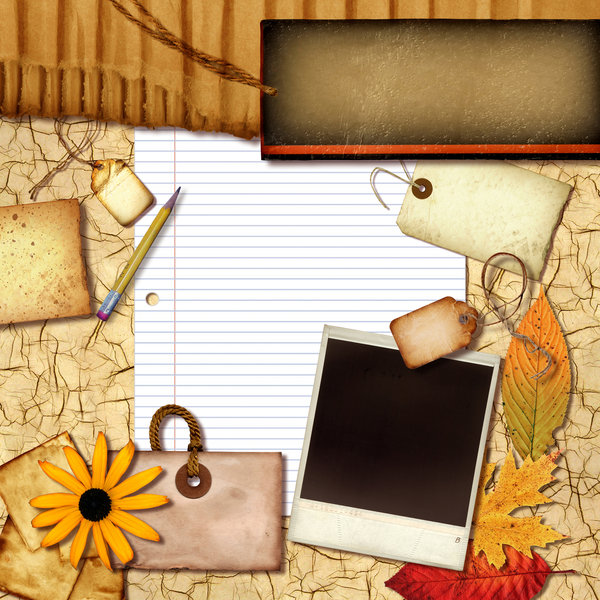Paper Collage 10: This is a computer generated collage made without the use of a camera. It was created using scans of various materials that were arranged in layers in a photo program on a computer.Variations on a paper collage.Please visit my gallery at:http://www.dreamstime.com ..