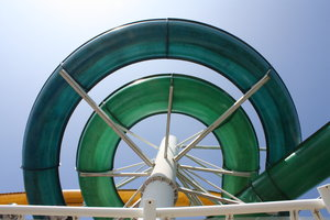 Flumes! 1: Water slides at a swimming pool