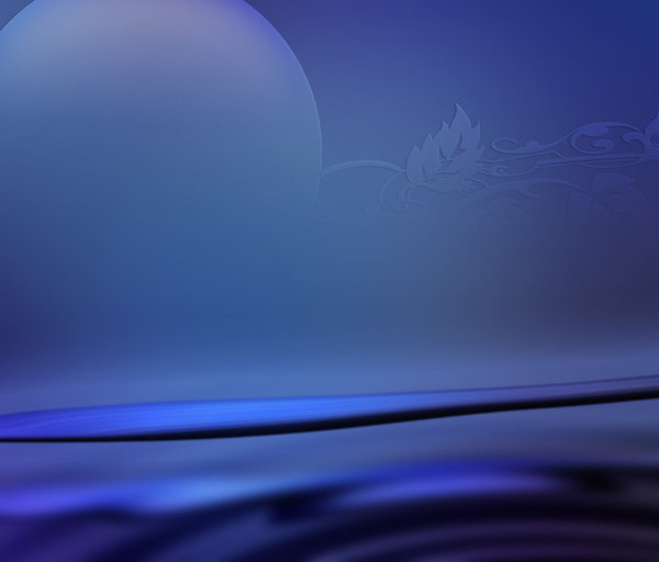 Bluephase: Blue moon on an abstract background. Just turned out that way.