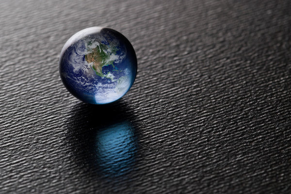Blue Pearl: A Blue Pearl on black...(Credit for the Blue Marble goes to NASA,Image found at visibleearth.nasa.gov/)