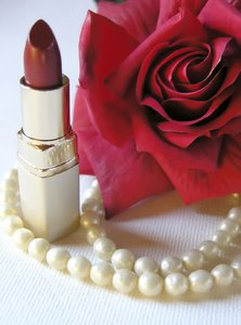 Love theme: rose and cosmetics
