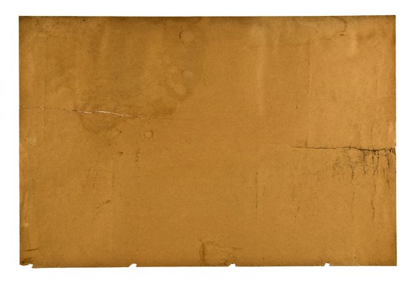 Old Brown Paper Texture: Detailed shot of very old and brown paper.