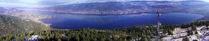 Panorama: This panaroma was taken 300' ontop of a communication tower.  The picture was taken near Penticton, British Columbia.