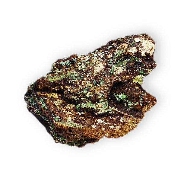 Malachite with Limonite: Malachite with Limonite