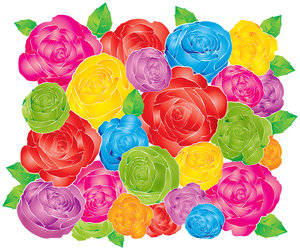 laonglaan roses: wallpaper series