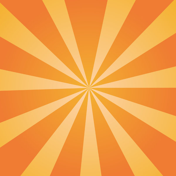 Orange Sunburst