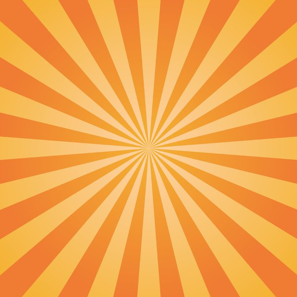 Orange Sunburst 2