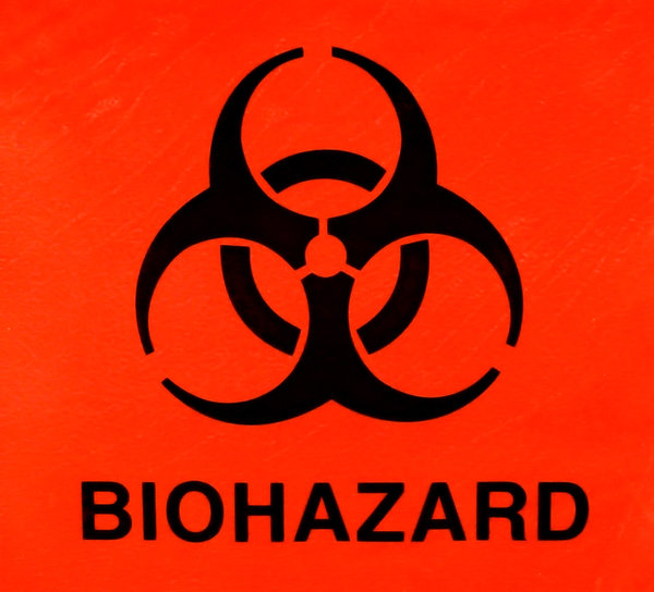 Biological hazard Symbol: The international symbol for biological hazard.