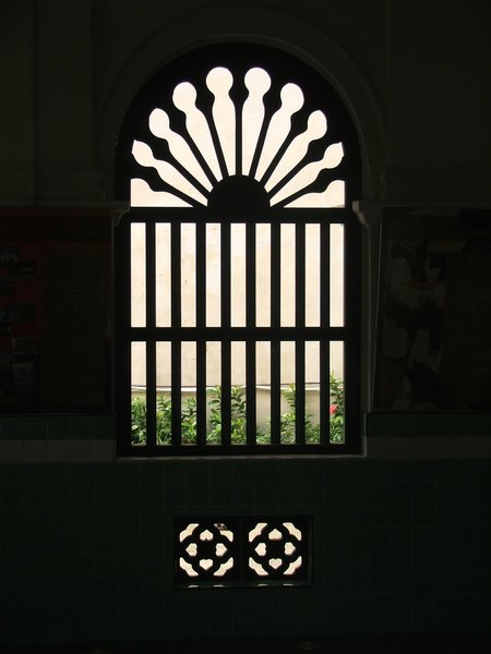 from the inside out: patterned silhouette window and gate screens