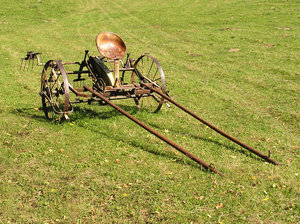 Farming tool: An old farming tool.
