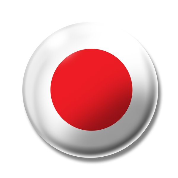 japan: the flag of japan