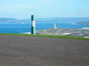 Streetlights 4: Streetlights pictures taken in Bens Park, hercules tower as background. The park is placed in Coruña city, Galicia, Spain, EU