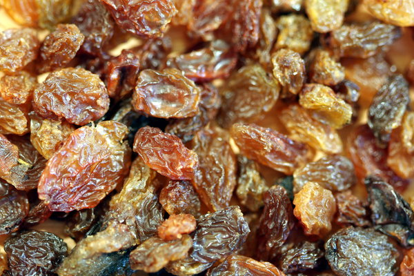 Food texture: Raisins