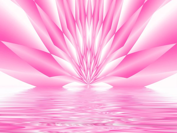 Abstract Lotus: Abstract pink geometric shape representing a lotus rising out of water.