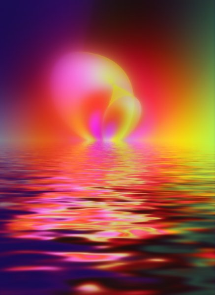 Otherworld Fantasy: Futuristic fantasy background with a water effect, bright shapes and colours. You may prefer this:  http://www.rgbstock.com/photo/2dyW5AL/Otherworld+2