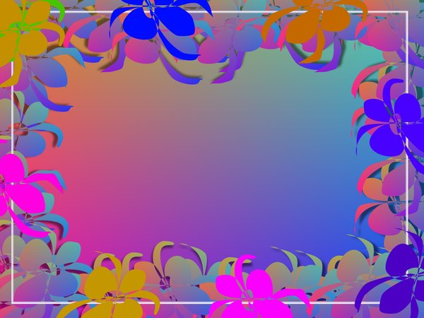 Paper Cut-Out Frame: Paper flowers and shapes in a border. Might make nice invitations, etc. Remember to read RGBstock's terms of use before using these images. No redistribution is allowed.