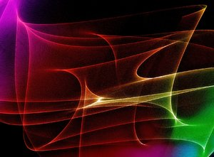: Waves of coloured light in a background or texture.