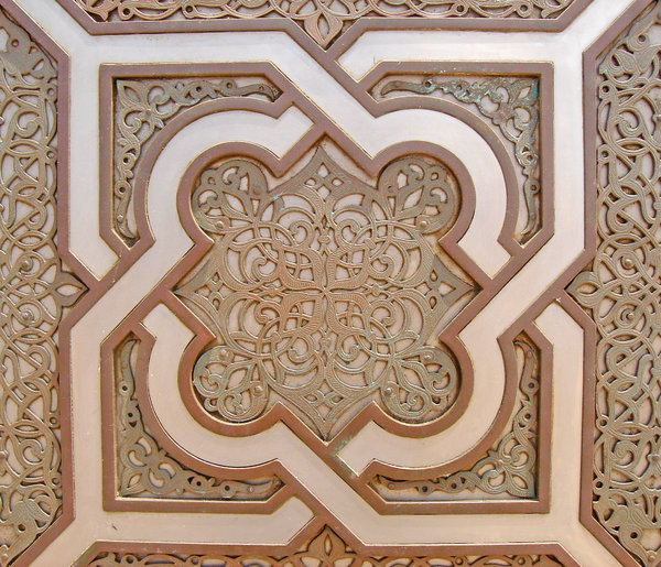 Arabic Ironworks 2: Ironworks detail in the Great Hassan II Mosque, Casablanca Morocco.