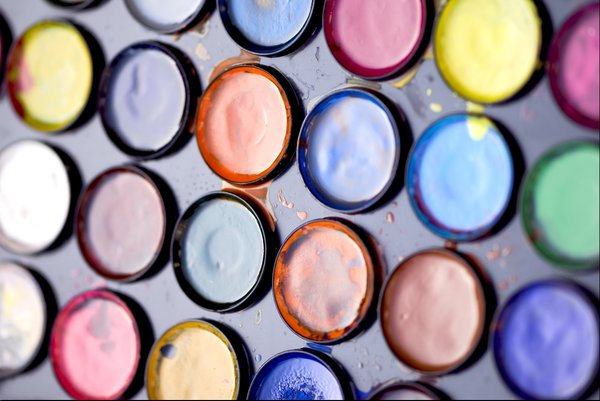 Paint: water color paint palette