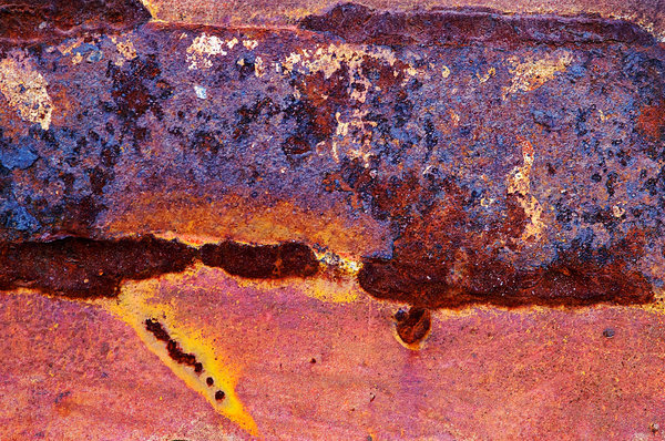 Rusted Metal: Some rusty metal that was next to the cranes.