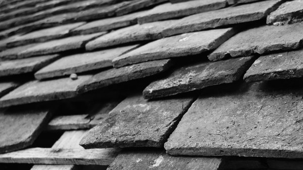 Tile roof 2: Tile roof from an old wash house. Format 16:9.