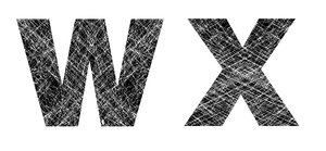 W and X: Distressed Letters.Please visit my stockxpert gallery:http://www.stockxpert.com ..