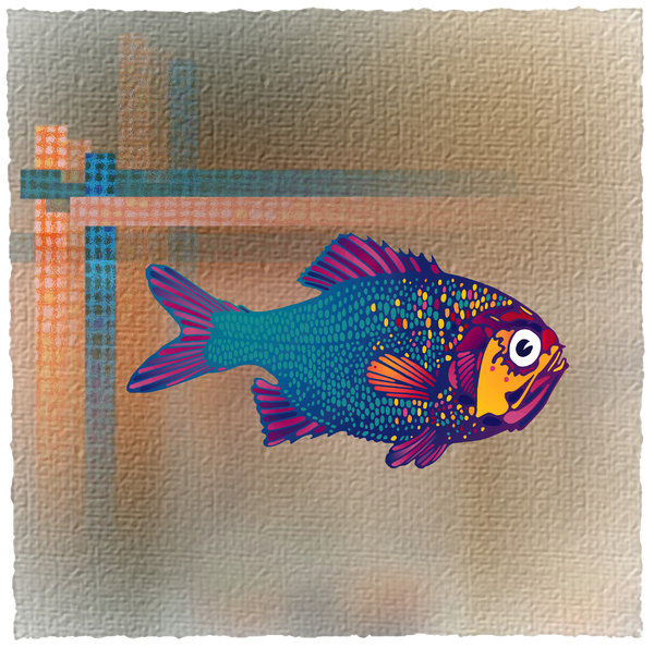 Fish Paint: Computer Art and Traditional Drawing Combined.Please visit my stockxpert gallery:http://www.stockxpert.com ..