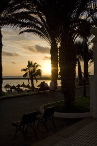 Tenerife by night_1: Down at the see in Las Americas, Tenerife