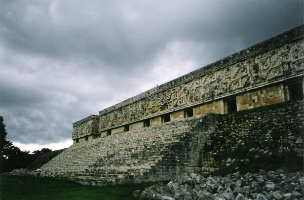 Mayan Temple: This is a Mayan Temple located in Yucatan, Mexico.  The shot was taken before a tropical storm. If you like it, please let me know where you use it.  Any comment is welcomed.