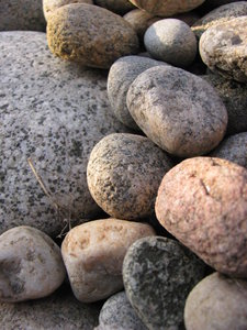 River Rocks 3: river rocks out of a rock garden