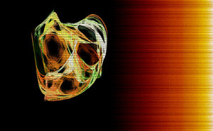 Oh !: A fractal created by me and my laptop in 2008.