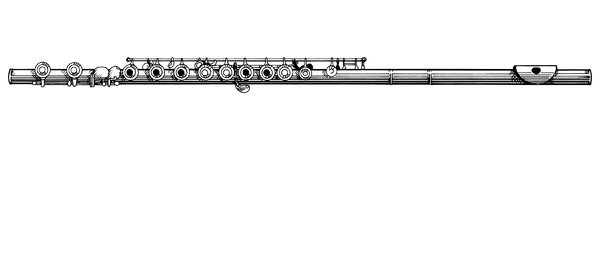 Flute: A line drawing of a flute.Please visit my stockxpert gallery:http://www.stockxpert.com ..