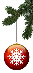 Ornament 2: A snow ornament hanging from a tree.Please visit my stockxpert gallery:http://www.stockxpert.com ..