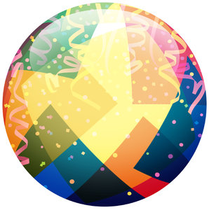 Party Ball: A festive party icon.Please visit my stockxpert gallery:http://www.stockxpert.com ..