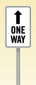 One Way: A graphic one way sign.Please visit my stockxpert gallery:http://www.stockxpert.com ..
