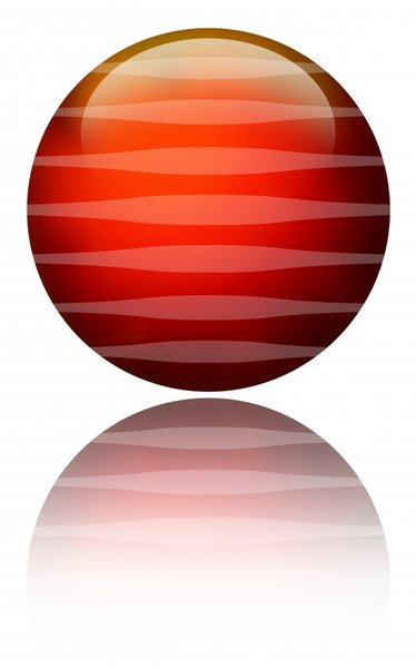 Ball: A red ball with stripes.Please visit my stockxpert gallery:http://www.stockxpert.com ..