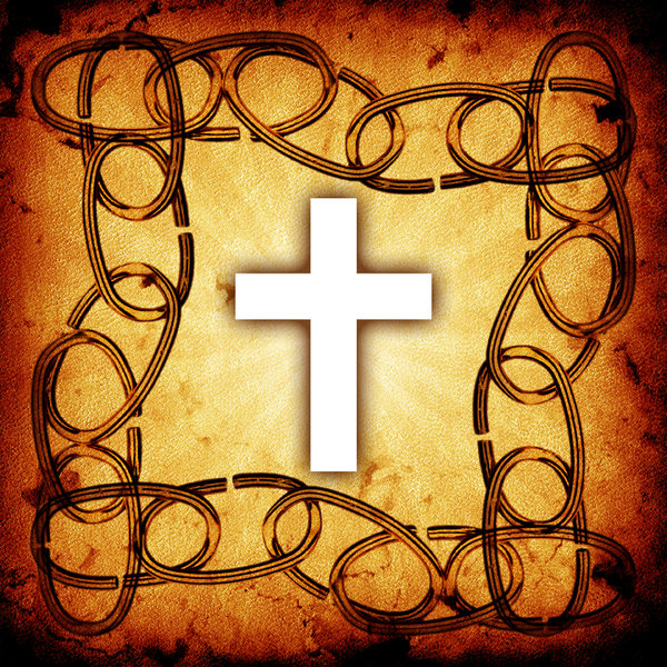 Chain Frame: Chain frame with a Christian cross.Please visit my stockxpert gallery:http://www.stockxpert.com ..